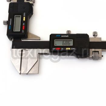 Штангензубомер цифровой ШЗНЦ-25 - при измерении