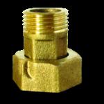 Комплект присоединительный латунный для водяного счетчика